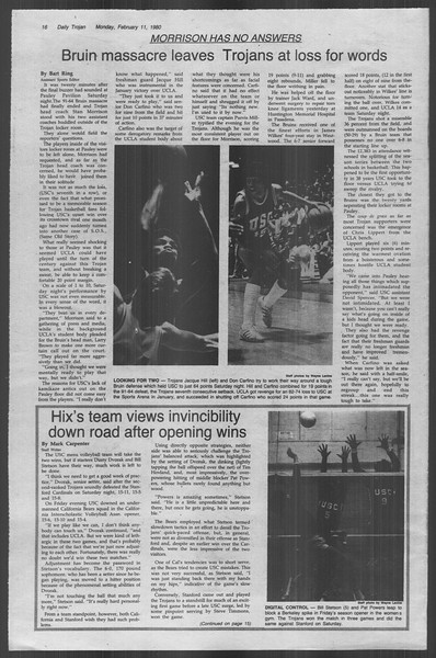 Daily Trojan, Vol. 88, No. 6, February 11, 1980