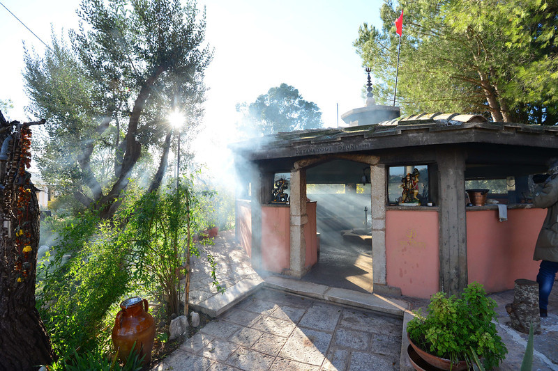 . This picture shows a view of the Dhuni (Holy fire) at the Bhole Baba spiritual center in Cisternino, in the southern Italian region of Puglia on December 10, 2012.  Cisternino is one of the few places on earth believed to be spared when the world ends, which according to the ancient Mayan calendar should take place on December 21, 2012.  GIUSEPPE CACACE/AFP/Getty Images