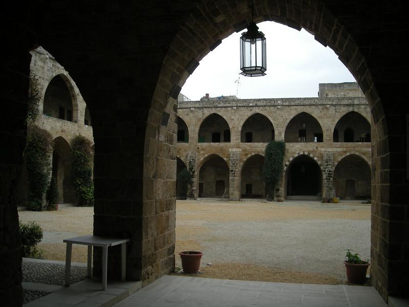 the 17th century Khan al-Franj in Sidon