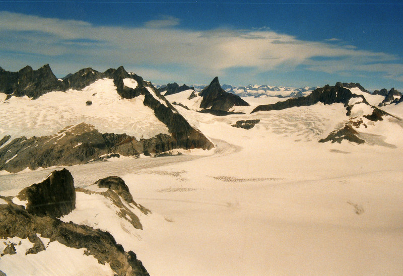 The glacier from above