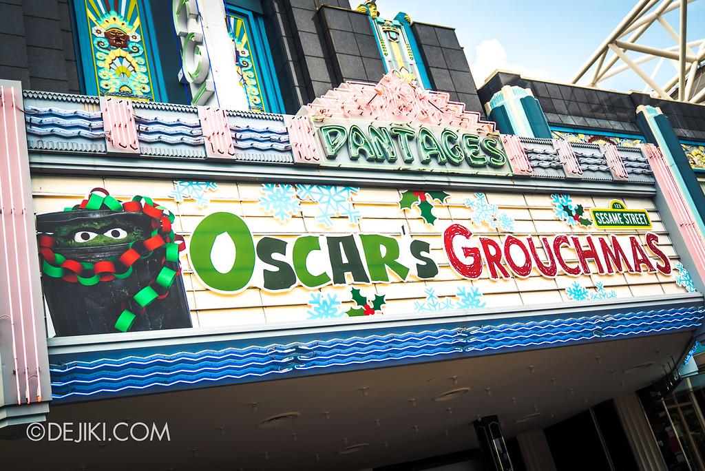 Universal Studios Singapore Christmas 2017 - Oscar's Grouchmas marquee