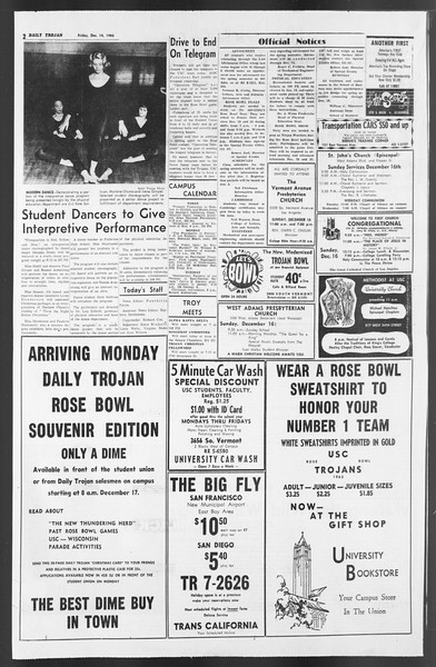 Daily Trojan, Vol. 54, No. 54, December 14, 1962