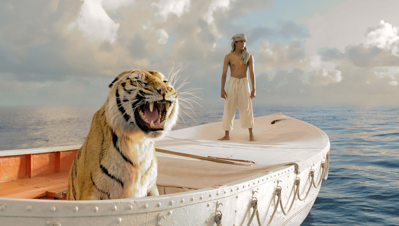 ". This publicity film image released by 20th Century Fox shows Suraj Sharma in a scene from ""Life of Pi,\"" directed by Ang Lee. The film was nominated for an Academy Award for best picture on Thursday, Jan. 10, 2013.  The 85th Academy Awards will air live on Sunday, Feb. 24, 2013 on ABC.  (AP Photo/20th Century Fox, Jake Netter, File)"