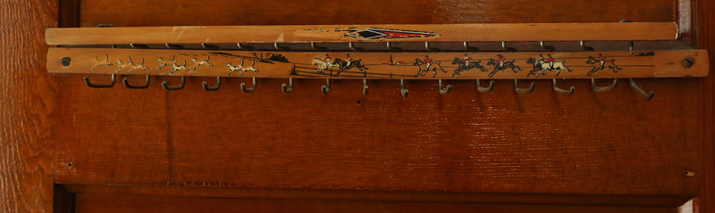 A perfectly conditioned tie rack presumably from England