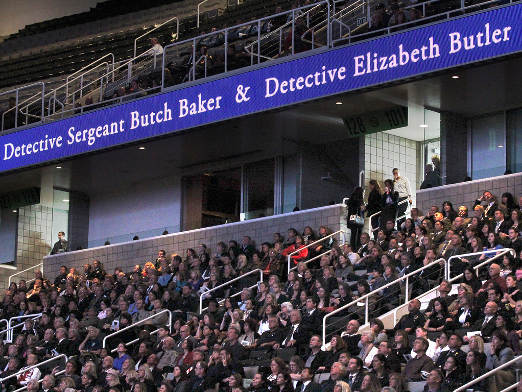 . Thursday was a day to honor fallen officers detective Sgt. Loran \'Butch\' Baker and detective Elizabeth Butler. (Shmuel Thaler/Sentinel)