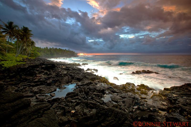 Kalapana Lava Beach