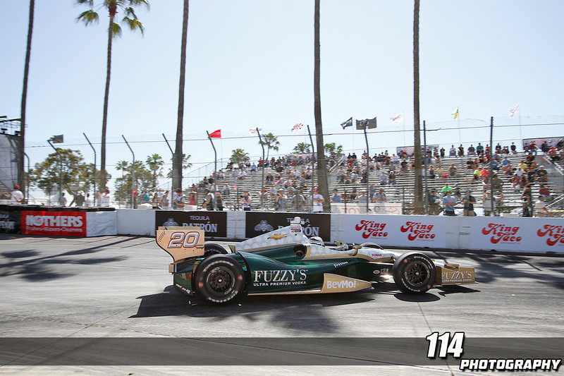 Morning practice for the Izod INDYCAR series at the 39th Annual Toyota Grand Prix of Long Beach in Long Beach, California on April 20, 2013.Chris Anderson/114photography
