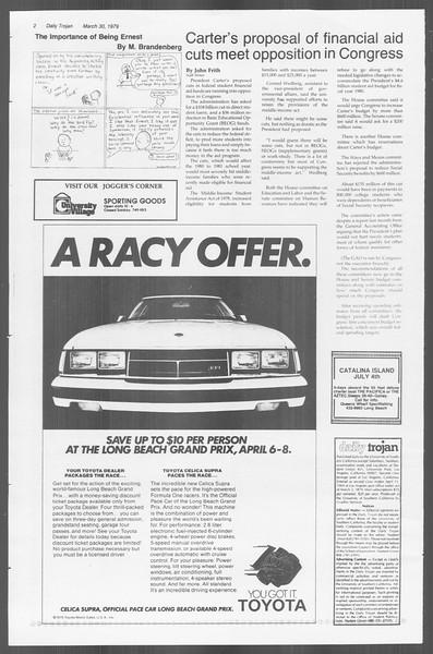 Daily Trojan, Vol. 76, No. 35, March 30, 1979