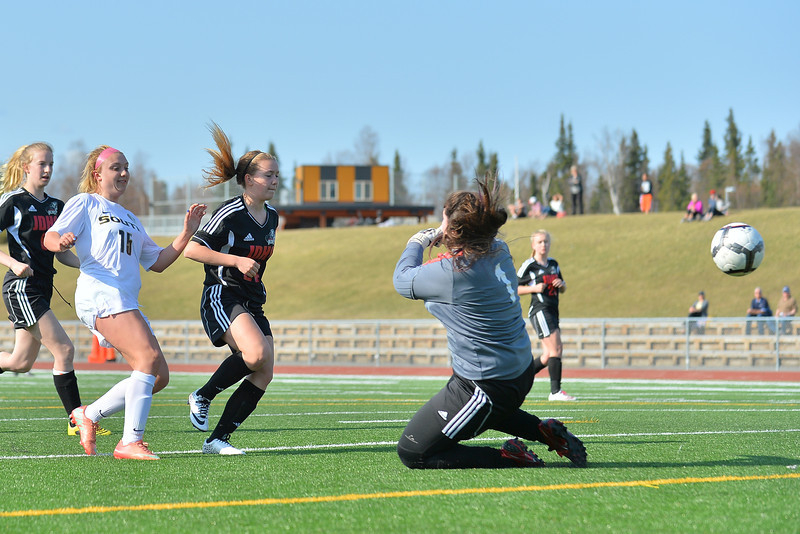 April 30, 2014: South Anchorage High School vs. Juneau-Douglas High School Girls Soccer