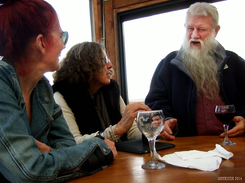 Ron Turner on right; Eva Strauss-Rosen on center; Linda English on left - Mark Rennie and his friend Michelle's birthday party at Bayview Boat Club