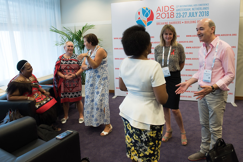 22nd International AIDS Conference (AIDS 2018) Amsterdam, Netherlands   Copyright: Marcus Rose/IAS  Photo shows: Back Stage at the Press Conference for  Sub-Saharan Africa: New Insights, New Impact.