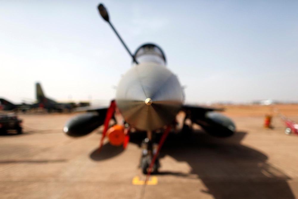 Description of . A Mirage 2000D is seen at Bamako airport February 7, 2013. REUTERS/Benoit Tessier