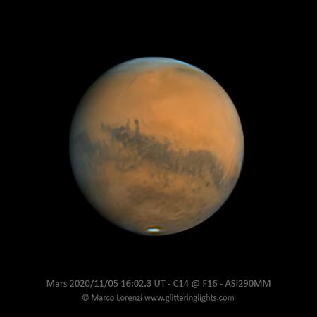 Mars on November 5, 2020