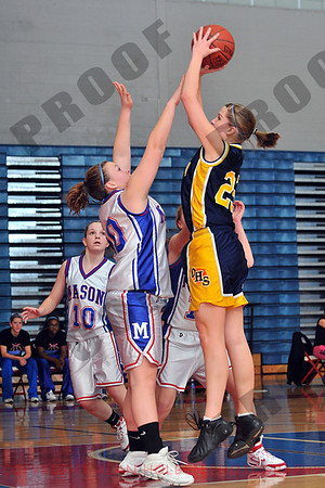 Girls JV Basketball - Owosso at Mason - Feb 25