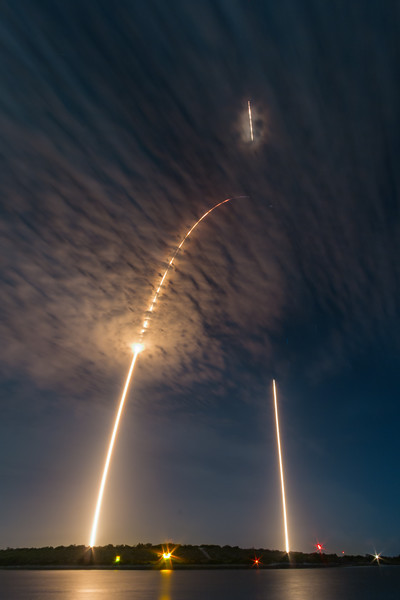 SpaceX CRS9 Falcon9 rocket launch and landing