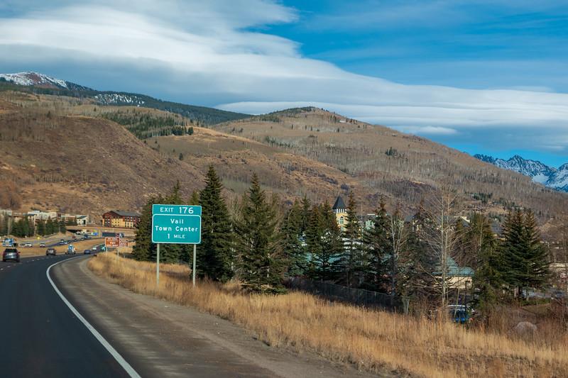 Colorado I-70 Near Vail