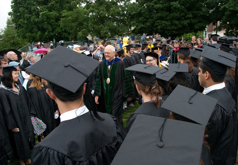 Day 4 - President Wright in the commencement procession