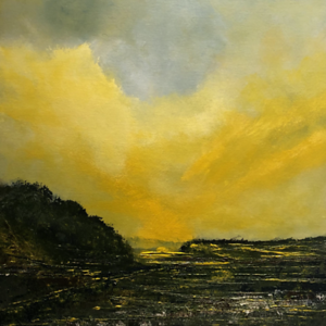 """""""Glowing Fields"""" (acrylic) by Holger Baehr"""