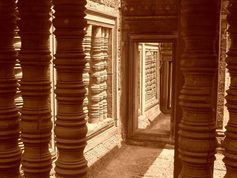Light and Columns - Angkor, Cambodia
