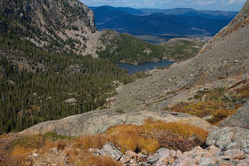 The Loch seen from Glass Pond at Rocky Mountain National Park Colorado