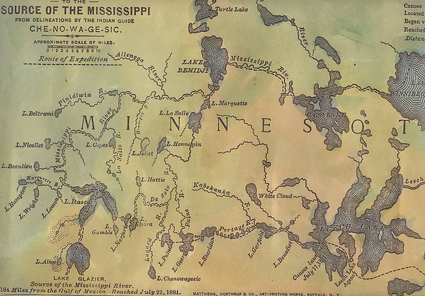 Historic Mississippi River Map Reproductions, each individually Hand-Painted by map artist, Lisa Middleton