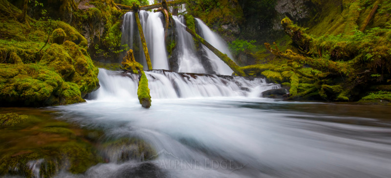 Panorama view of Lower Panther Falls
