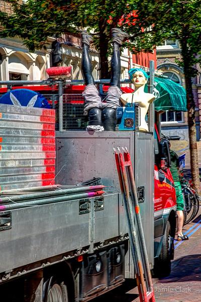 Road crew mascots. Delft, Netherlands.