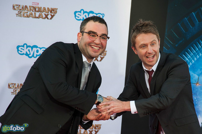HOLLYWOOD, CA - JULY 21: Actor Chris Hardwick (R) and comedian Matt Mira attend Marvel's 'Guardians Of The Galaxy' Los Angeles Premiere at the Dolby Theatre on Monday July 21, 2014 in Hollywood, California. (Photo by Tom Sorensen/Moovieboy Pictures)