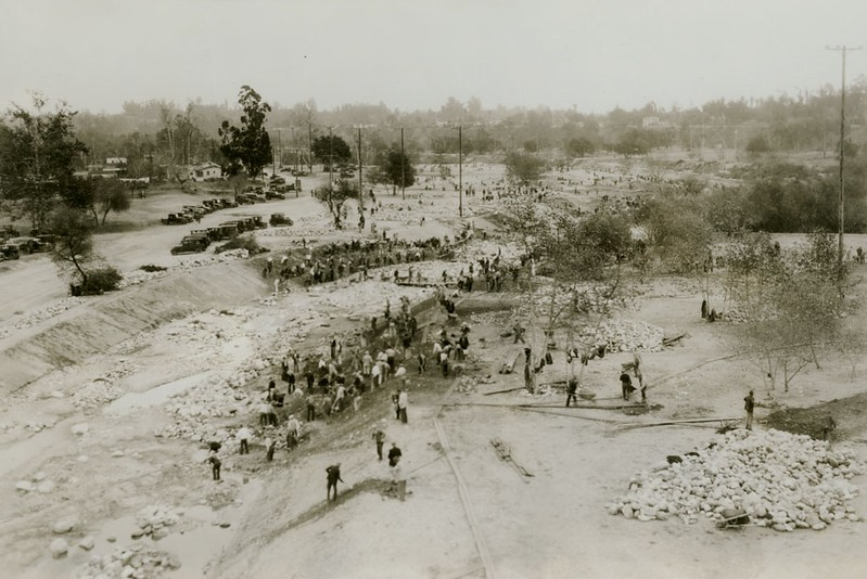 Arroyo Seco Channel Construction