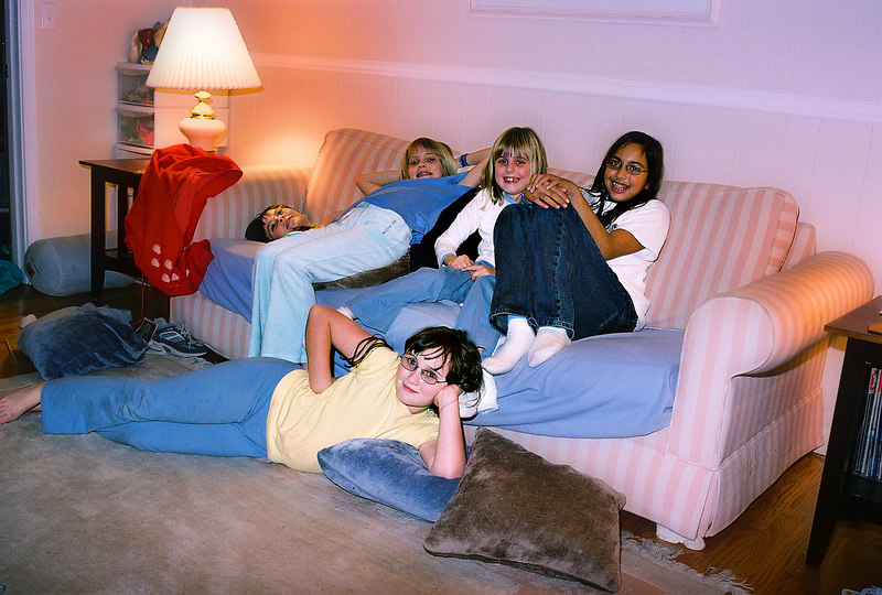 The gang - Alice, Emily, Elena, Rika and Laura. Christmas 2004.