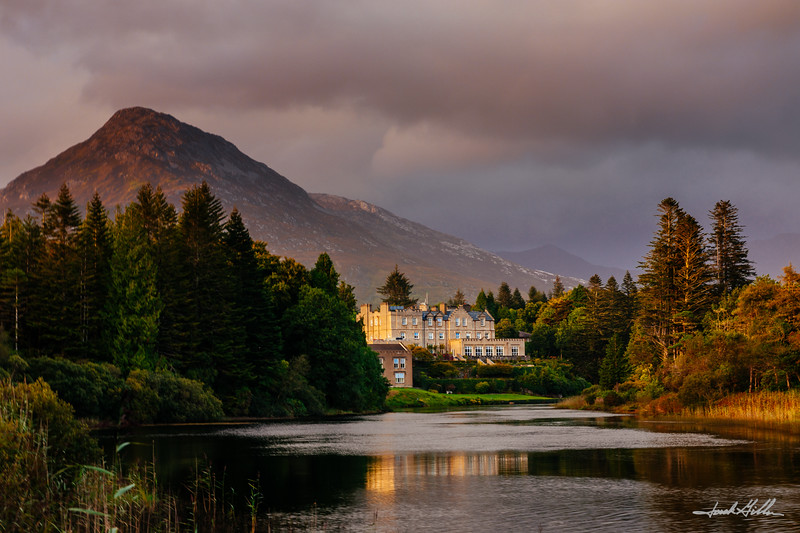 Ballynahinch Castle Hotel on the Owenmore River