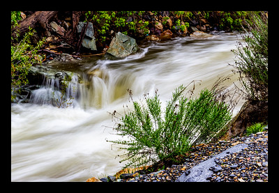 Big Cottonwood Creek Overflowing...