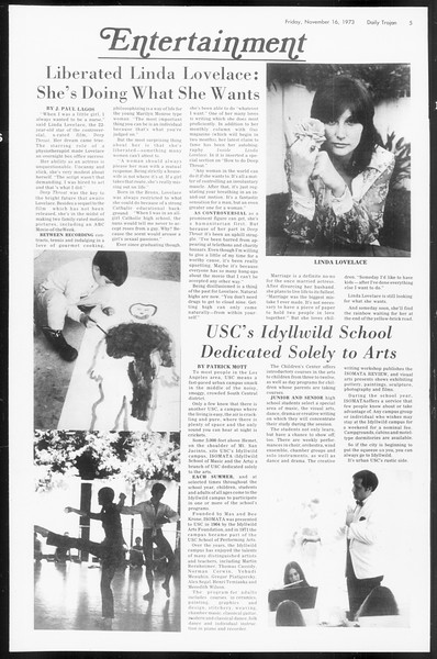 Daily Trojan, Vol. 66, No. 42, November 16, 1973