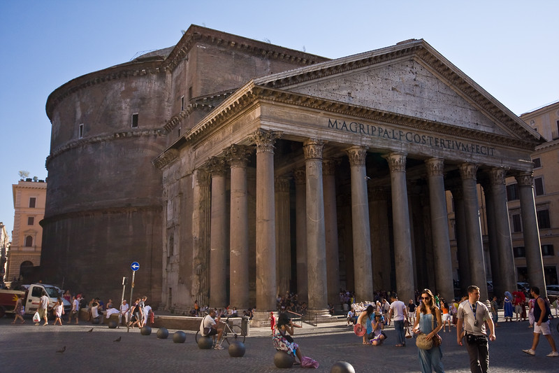 The Pantheon, Side View
