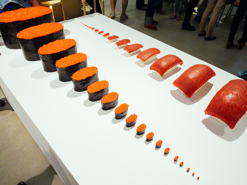 Design Ah Exhibition: Just Right Sushi by Taku Satoh Design Office