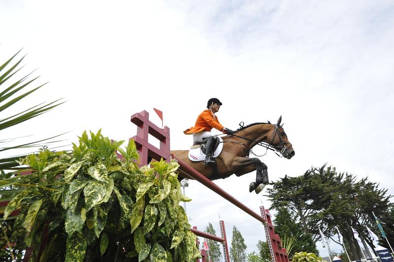 JUMPING : Leon THIJSSEN sur Tyson COUPE DES NATIONS 2012 -  CSIO DE LA BAULE 2012 - PHOTO : © CHRISTOPHE BRICOT