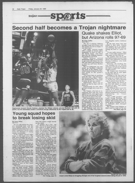 Daily Trojan, Vol. 108, No. 6, January 20, 1989