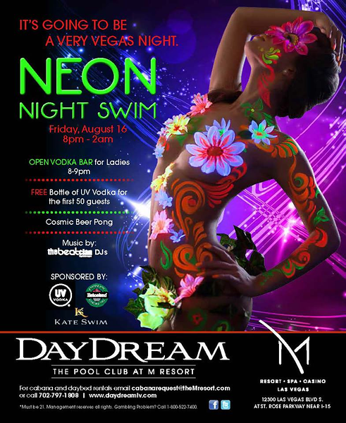 Neon Night Swim @ DayDream 8.16.13