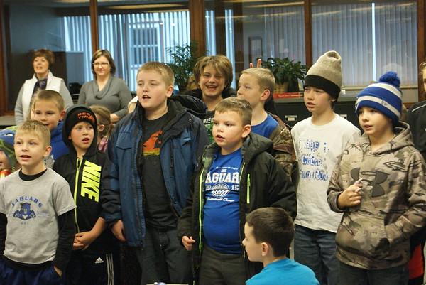 BBE students Christmas caroling
