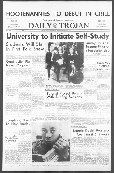 Daily Trojan, Vol. 56, No. 20, October 16, 1964