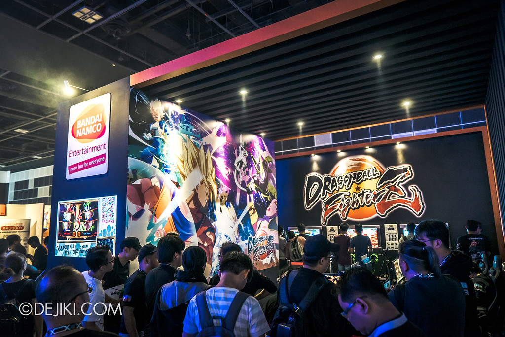 GameStart Asia 2017 Singapore gaming convention - Bandai Namco entertainment booth