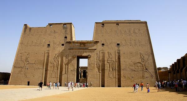 THE TEMPLE OF HORUS, EDFU, EGYPT