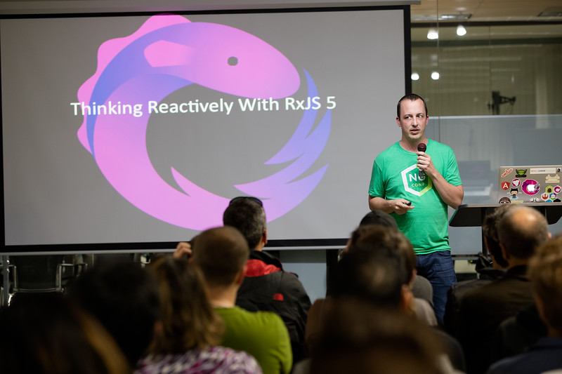 Accessibility, RxJS, Data Viz in Angular 2. Co-host: SouthBayJS  @BenLesh @modernweb_ Speaker: Ben Lesh, Senior Software Engineer, Netflix