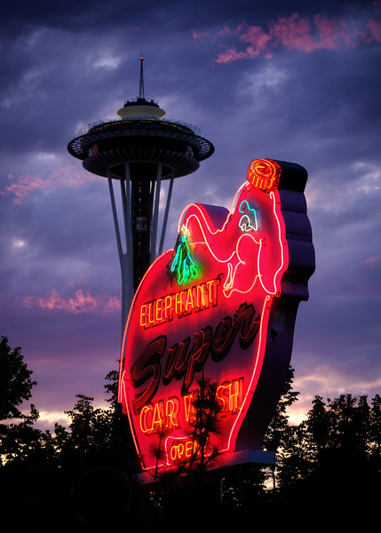 Small Elephant - Space Needle - Sunset