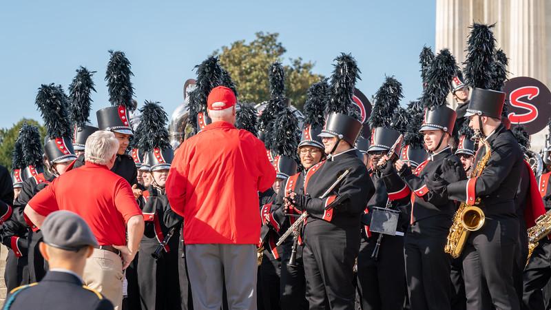 Dave greets the Fort Dodge Sr HS Band