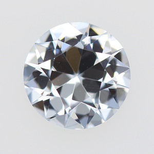 2.01ct White sapphire, Old Cut-style round (S081)