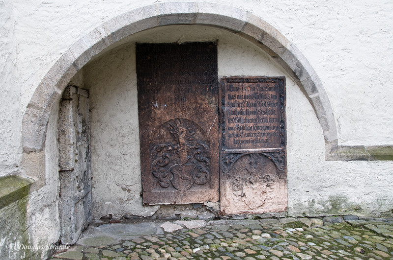 Centuries-old inscriptions at Cesky Krumlov castle