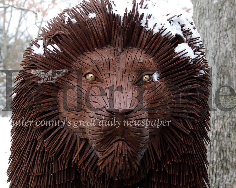 Lion nail sculpture by Butler metal-works artist Bill Secunda. Seb Foltz/Butler Eagle