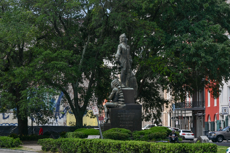 Bienville Monument, Founder of New Orleans in 1717