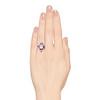 2.27ct (est) Art Deco Old European Cut Diamond with Amethyst Halo Ring 2